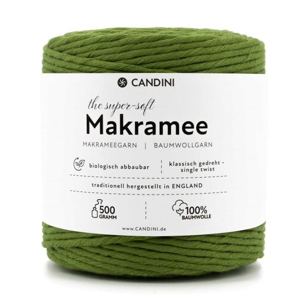Basic Makramee Garn, limetten-grün, 3,5 - 4mm, 0,5kg - ca.100m, super soft Baumwolle