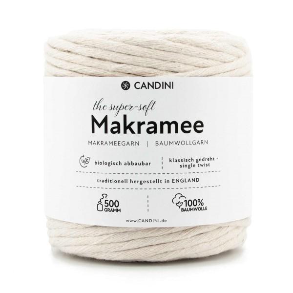 Basic Makramee Garn, Natur, 4mm, super soft Baumwolle
