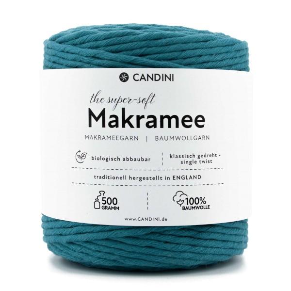 Basic Makramee Garn, türkis, 3,5 - 4mm, 0,5kg - ca.100m, super soft Baumwolle