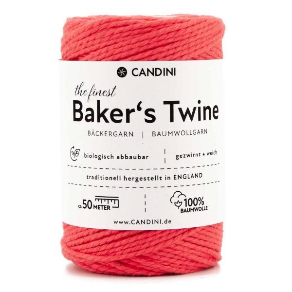 Bäckergarn rot erdbeere - Bastelgarn Baumwolle, 50m Baker's Twine Bastelschnur