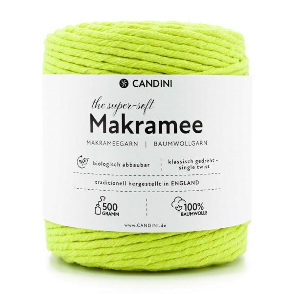 Basic Makramee Garn, apfel-grün, 3,5 - 4mm, 0,5kg - ca.100m, super soft Baumwolle