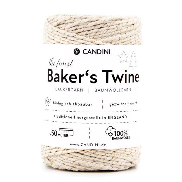 Bäckergarn gold ivory - Bastelgarn Baumwolle, 50m - Baker's Twine Bastelschnur