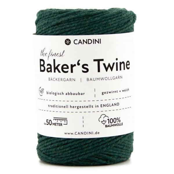 Bäckergarn dunkelgrün - Bastelgarn Baumwolle, 50m - Baker's Twine Bastelschnur