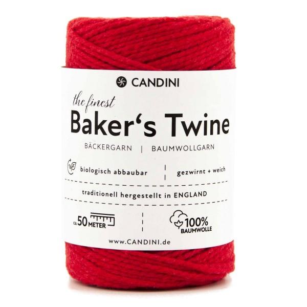 Bäckergarn rot - Bastelgarn Baumwolle, 50m - Baker's Twine Bastelschnur