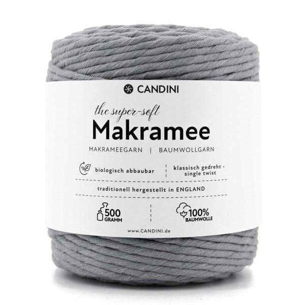 Basic Makramee Garn, silber grau, 3,5 - 4mm, 0,5kg - ca.100m, super soft Baumwolle