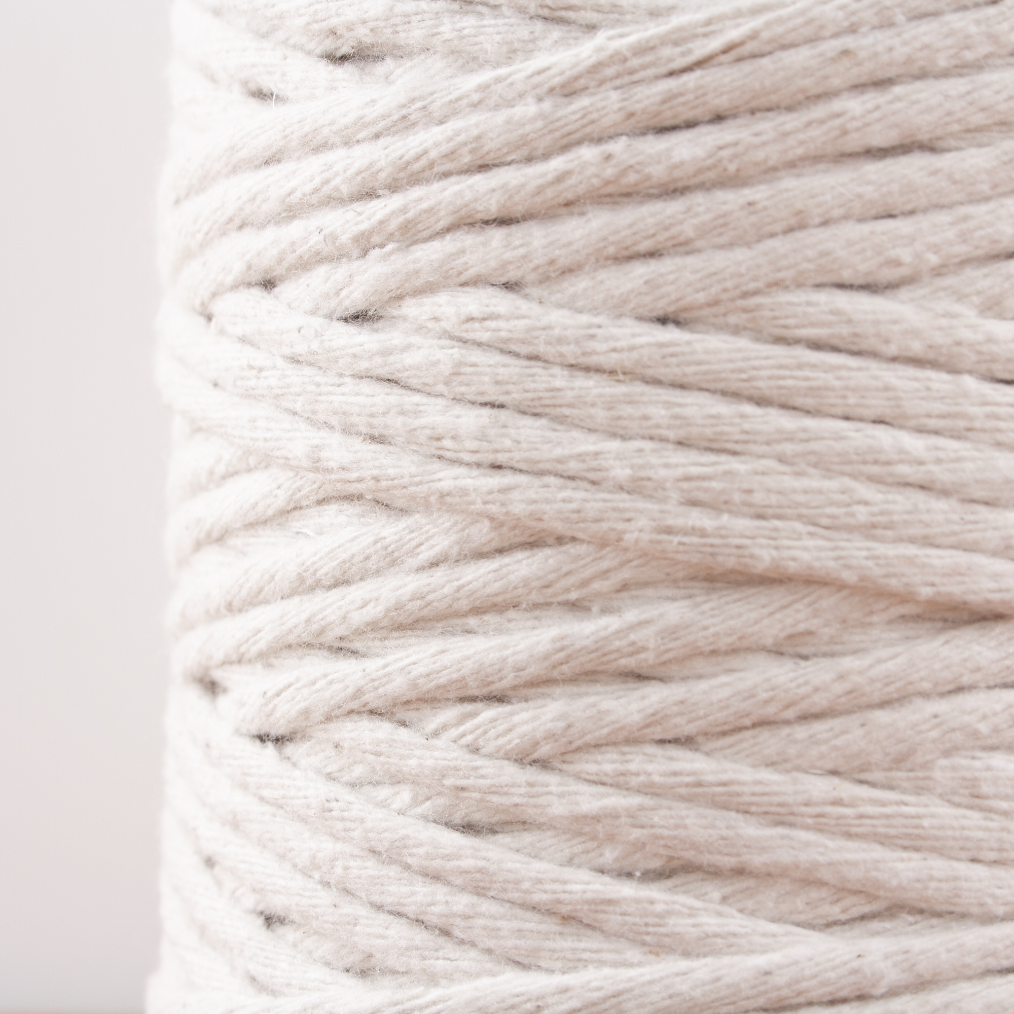 Makramee Garn Natur 0,5kg ca Bastel Schnur 120m 3,5mm super soft Baumwolle