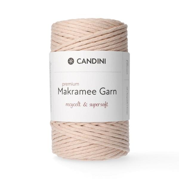 Premium Makramee Garn, 4mm, gezwirnt - blush
